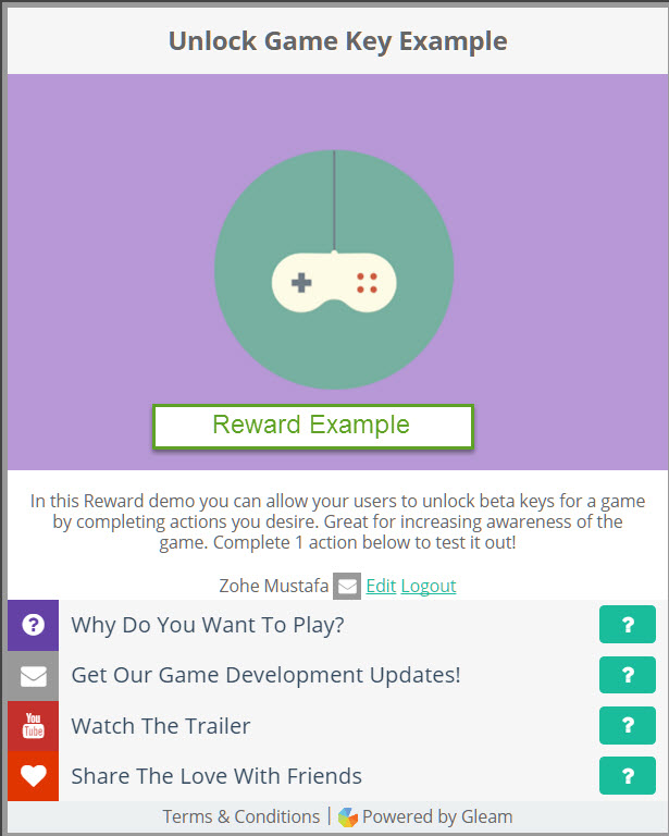 reward competition example
